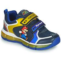 Boty Chlapecké Nízké tenisky Geox ANDROID Modrá / Žlutá
