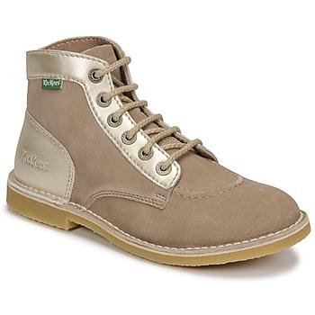 Boty Ženy Kotníkové boty Kickers ORILEGEND Béžová