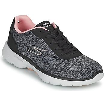 Boty Ženy Nízké tenisky Skechers GO WALK 6 Šedá / Růžová