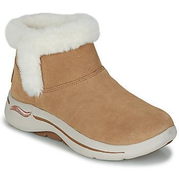 Boty Ženy Kotníkové boty Skechers GO WALK ARCH FIT Hnědá