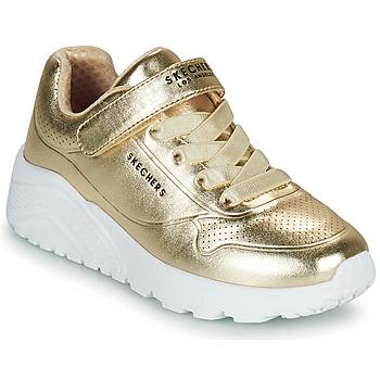 Boty Dívčí Nízké tenisky Skechers UNO LITE Zlatá
