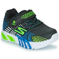 Boty Chlapecké Nízké tenisky Skechers FLEX-GLOW ELITE Černá / Modrá