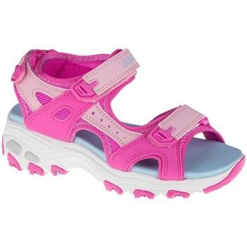 Boty Děti Sandály Skechers Dlites Modré, Růžové