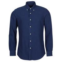 Textil Muži Košile s dlouhymi rukávy Polo Ralph Lauren TRENNYB Modrá