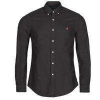 Textil Muži Košile s dlouhymi rukávy Polo Ralph Lauren CAMISETA Černá