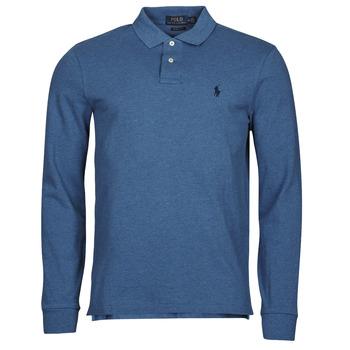 Textil Muži Polo s dlouhými rukávy Polo Ralph Lauren KETINA Modrá