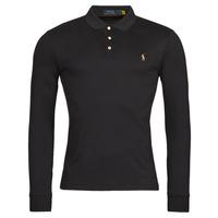 Textil Muži Polo s dlouhými rukávy Polo Ralph Lauren PERINA Černá