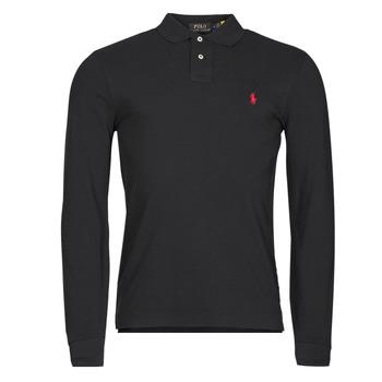 Textil Muži Polo s dlouhými rukávy Polo Ralph Lauren TREKINA Černá