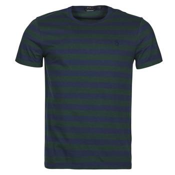 Textil Muži Trička s krátkým rukávem Polo Ralph Lauren POLINE Tmavě modrá / Zelená