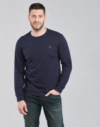 Textil Muži Trička s dlouhými rukávy Polo Ralph Lauren DRENNI Tmavě modrá