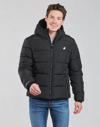 Textil Muži Prošívané bundy Superdry HOODED SPORTS PUFFER Černá