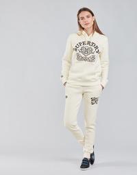 Textil Ženy Teplákové kalhoty Superdry PRIDE IN CRAFT JOGGER Krémově bílá