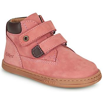 Boty Dívčí Kotníkové boty Kickers TACKEASY Růžová