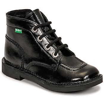 Boty Dívčí Kotníkové boty Kickers KICK COLZ Černá