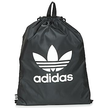 Taška Batohy adidas Originals GYMSACK TREFOIL Černá