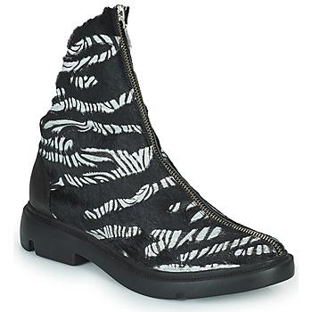 Boty Ženy Kotníkové boty Papucei KAEL Černá / Bílá