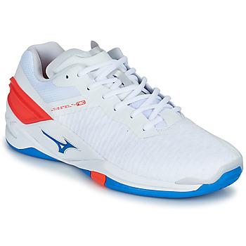 Boty Muži Sálová obuv Mizuno STEALTH NEO Bílá / Modrá