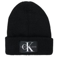 Textilní doplňky Muži Čepice Calvin Klein Jeans MONOGRAM BEANIE WL Černá