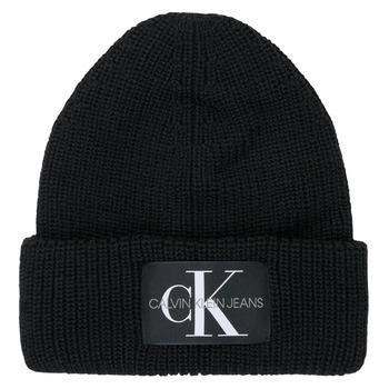 Textilní doplňky Ženy Čepice Calvin Klein Jeans MONOGRAM BEANIE WL Černá