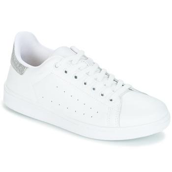 Boty Ženy Nízké tenisky Yurban SATURNA Bílá / Stříbřitá