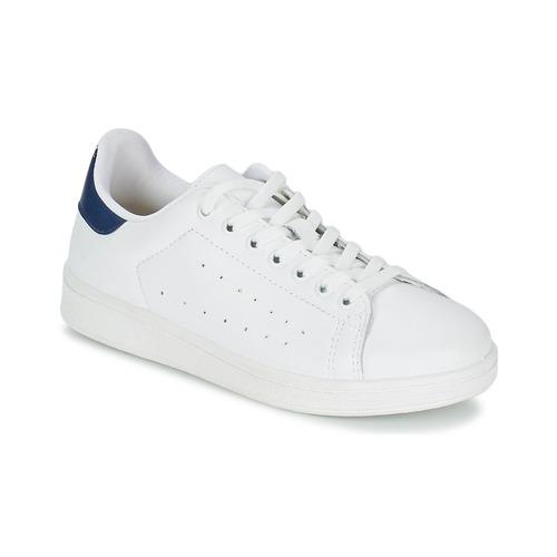 Boty Muži Nízké tenisky Yurban SATURNA Bílá / Tmavě modrá