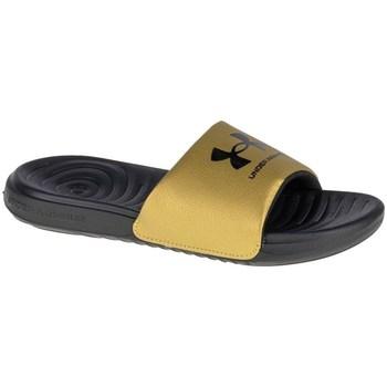 Boty Ženy pantofle Under Armour Ansa Fixed Slides Žluté, Grafitové
