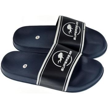 Boty Muži pantofle Super Gear Pánske tmavo-modré šľapky NASH tmavomodrá