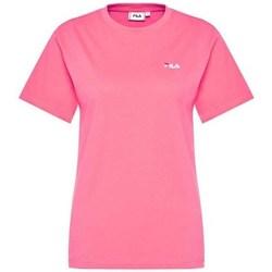 Textil Ženy Trička s krátkým rukávem Fila Eara Tee W Růžové