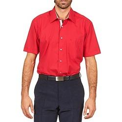 Košile s krátkými rukávy Pierre Cardin CH MC POPELINE UNIE - OPPO RAYURE INTERIEUR COL & POIGNET