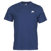 Textil Muži Trička s krátkým rukávem Nike NIKE SPORTSWEAR CLUB Modrá / Bílá