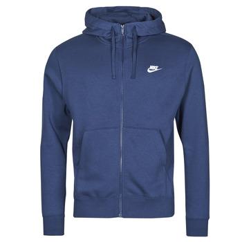 Textil Muži Mikiny Nike NIKE SPORTSWEAR CLUB FLEECE Modrá / Tmavě modrá / Bílá