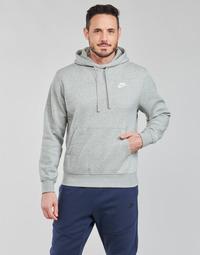 Textil Muži Mikiny Nike NIKE SPORTSWEAR CLUB FLEECE Šedá / Bílá