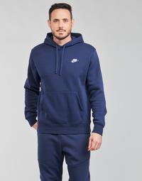 Textil Muži Mikiny Nike NIKE SPORTSWEAR CLUB FLEECE Tmavě modrá / Bílá