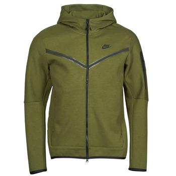 Textil Muži Teplákové bundy Nike NIKE SPORTSWEAR TECH FLEECE Zelená / Černá