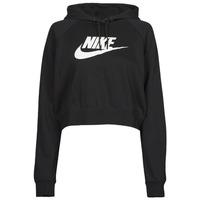 Textil Ženy Mikiny Nike NIKE SPORTSWEAR ESSENTIAL Černá / Bílá
