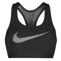 Textil Ženy Sportovní podprsenky Nike W NK DF SWSH ICNCLSH GX BRA Černá / Bílá