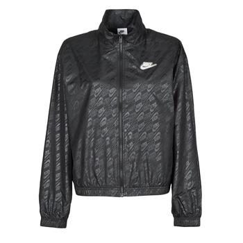 Textil Ženy Větrovky Nike W NSW WVN GX JKT FTRA Černá / Bílá