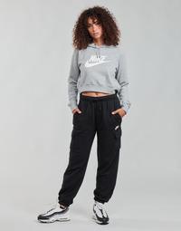 Textil Ženy Teplákové kalhoty Nike W NSW ESSNTL FLC MR CRGO PNT Černá / Bílá