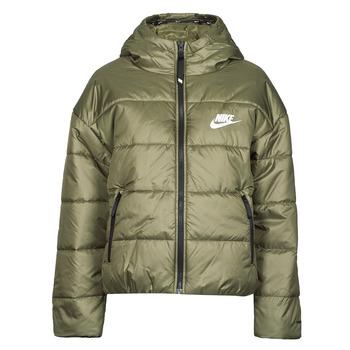 Textil Ženy Prošívané bundy Nike W NSW TF RPL CLASSIC HD JKT Khaki / Bílá