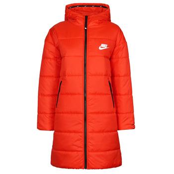 Textil Ženy Prošívané bundy Nike W NSW TF RPL CLASSIC HD PARKA Červená / Černá / Bílá