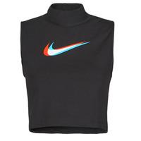 Textil Ženy Tílka / Trička bez rukávů  Nike W NSW TANK MOCK PRNT Černá