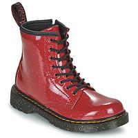 Boty Dívčí Kotníkové boty Dr Martens 1460 J Červená