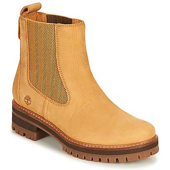 Boty Ženy Kotníkové boty Timberland COURMAYEUR VALLEY CHELSEA Žlutá