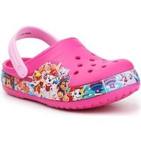 Boty Dívčí Pantofle Crocs FL Paw Patrol Band Clog 205509-670 pink