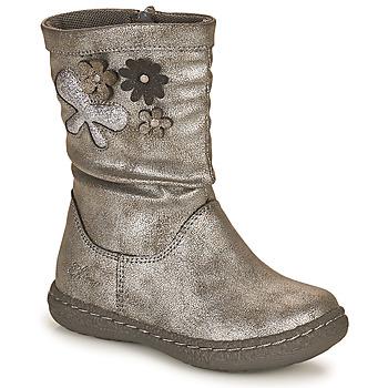 Boty Dívčí Kozačky Chicco CAROL Stříbrná