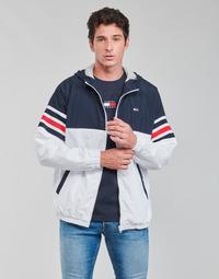 Textil Muži Bundy Tommy Jeans TJM COLORBLOCK ZIPTHRU Modrá / Bílá / Červená