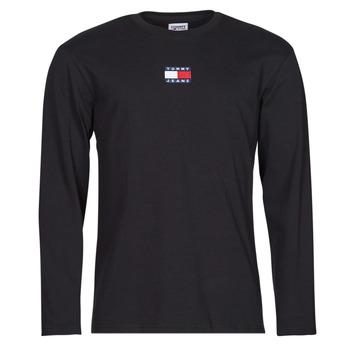 Textil Muži Trička s dlouhými rukávy Tommy Jeans TJM LS TOMMY BADGE TEE Černá