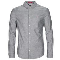 Textil Muži Košile s dlouhymi rukávy Tommy Jeans TJM STRETCH OXFORD SHIRT Černá