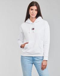 Textil Ženy Mikiny Tommy Jeans TJW TOMMY CENTER BADGE HOODIE Bílá