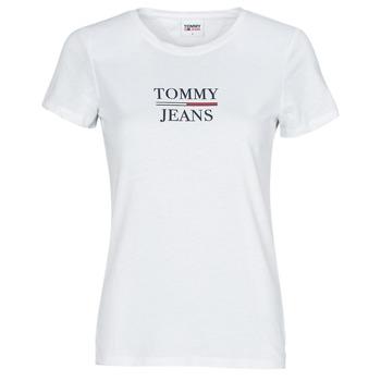 Textil Ženy Trička s krátkým rukávem Tommy Jeans TJW SKINNY ESSENTIAL TOMMY T SS Bílá